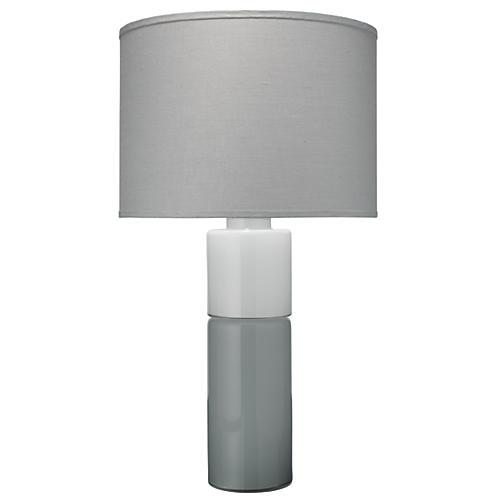 Copenhagen Table Lamp, Gray/White