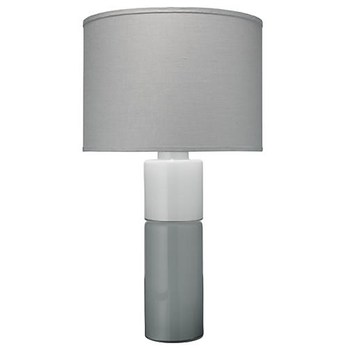 Copenhagen Table Lamp, Gray/White
