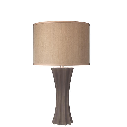 Sand Dollar Table Lamp, Matte Taupe