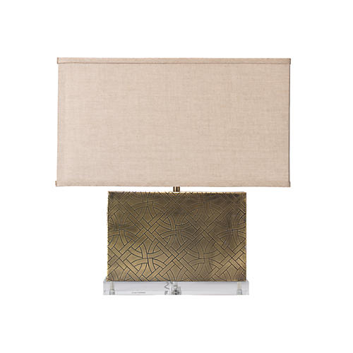 Cardiff Table Lamp, Antiqued Brass