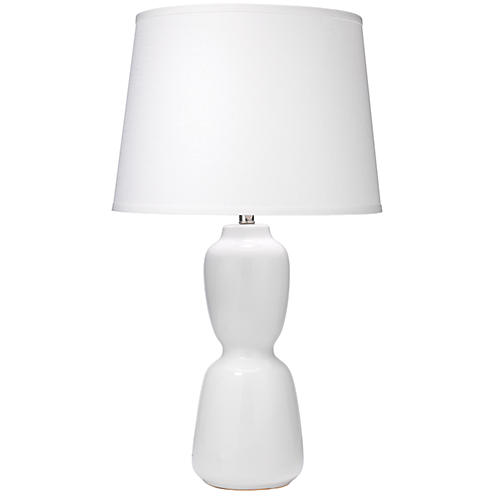 Corset Table Lamp, White
