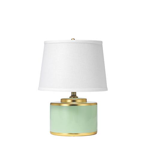 Basin Table Lamp, Teal
