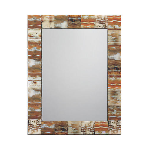 Faux-Horn Wall Mirror, Natural