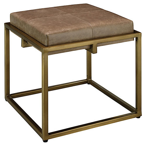 Shelby Stool, Taupe Leather