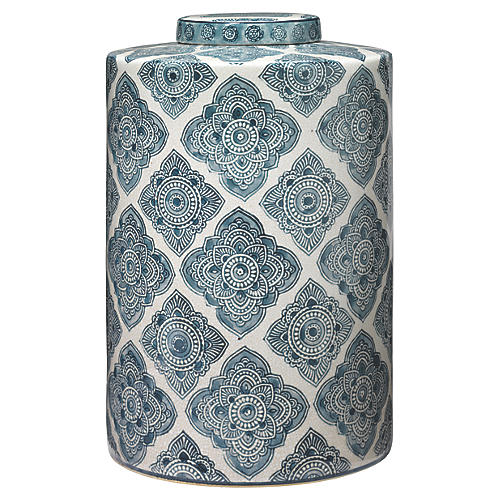 "13"" Oran Canister, Blue/White"
