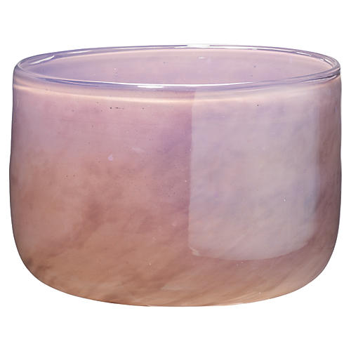 "7"" Vapor Small Vase, Metallic Lavender"