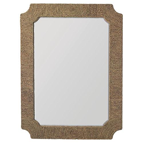 Marina Oversize Wall Mirror, Natural