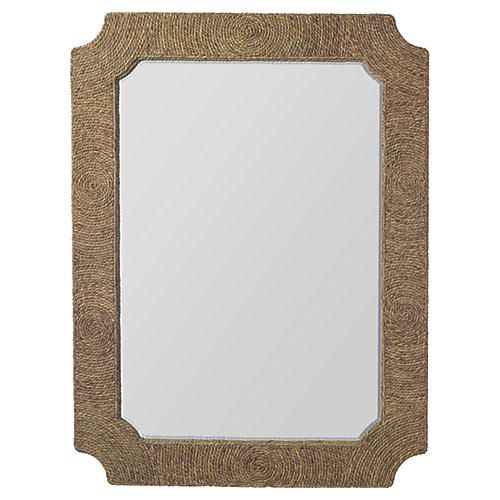 Marina Oversize Wall Mirror, Natural