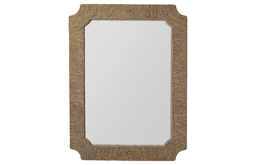 Marina Oversize Jute Wall Mirror, Natural