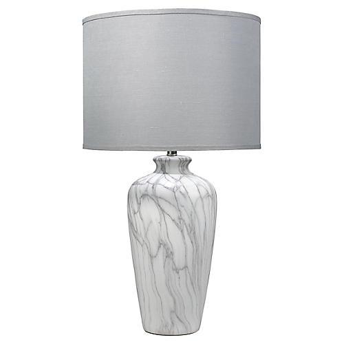 Bedrock Table Lamp, Marbled Ceramic
