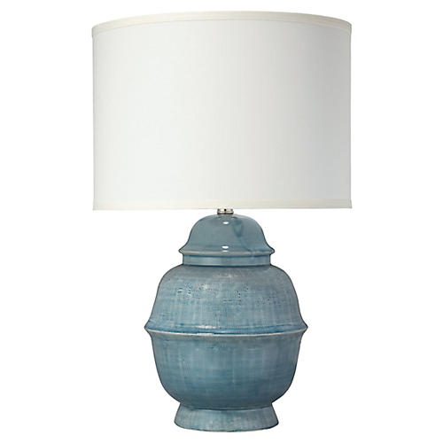Kaya Table Lamp, Blue