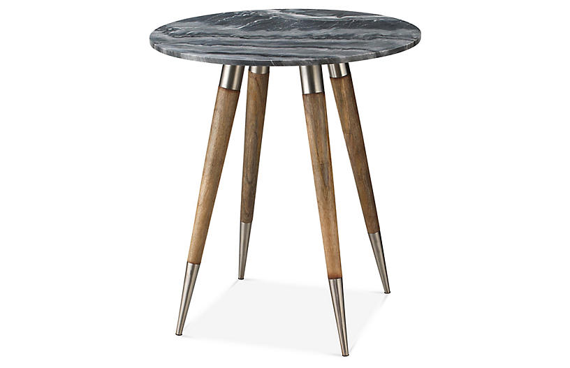 Owen Side Table, Natural/Gray