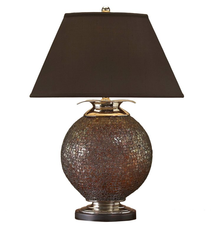 Copper Fragmented Glass Table Lamp