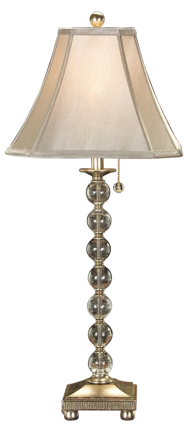 Ball Lamp, Antiqued Gold