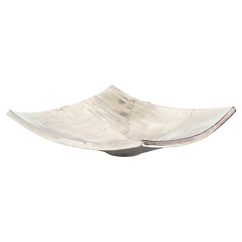 "20"" Square Polished Bowl, Nickel"