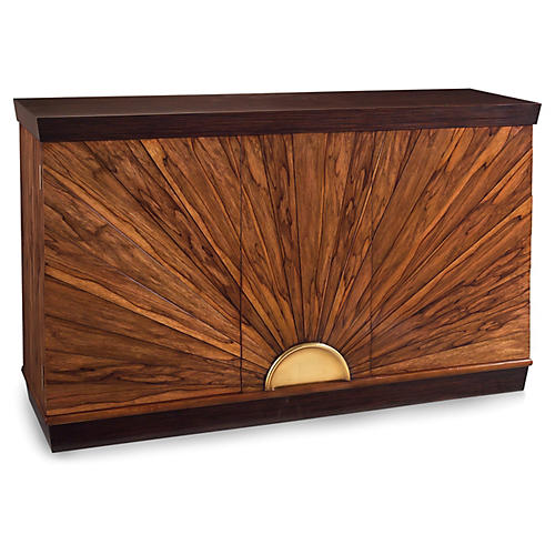 Sunburst Two-Door Cabinet, Ofram Brown
