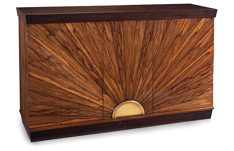 Sunburst Two-Door Cabinet - Ofram Brown - John-Richard