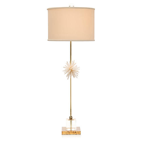 Crystal Buffet Lamp, Brass