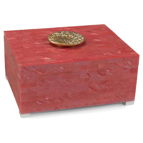 """13"""" Palm Beach Box, Coral"""