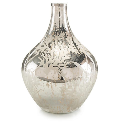 Balloon Bottle, Antiqued Silver