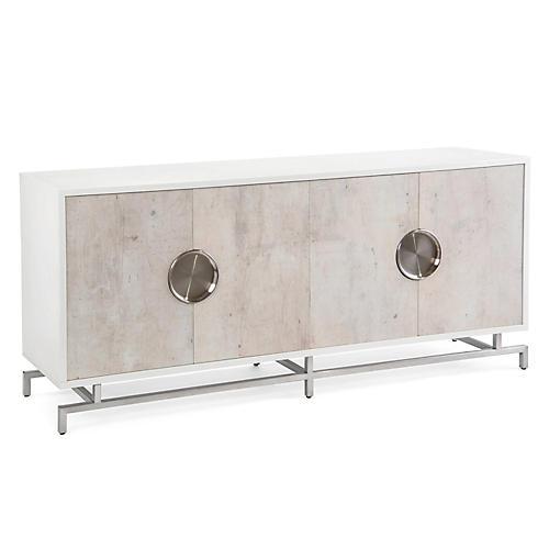 Dante Four-Door Sideboard, Beluga White