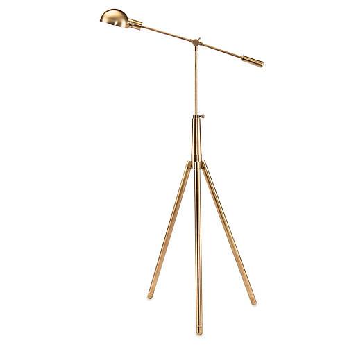 Pharmacy Floor Lamp, Brass
