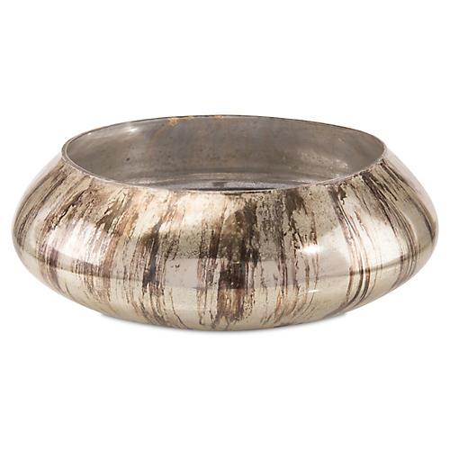 "17"" Lawson Bowl, Antiqued Silver"