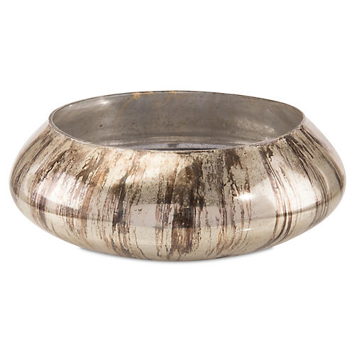 "17"" Lawson Bowl, Antiqued Silver"