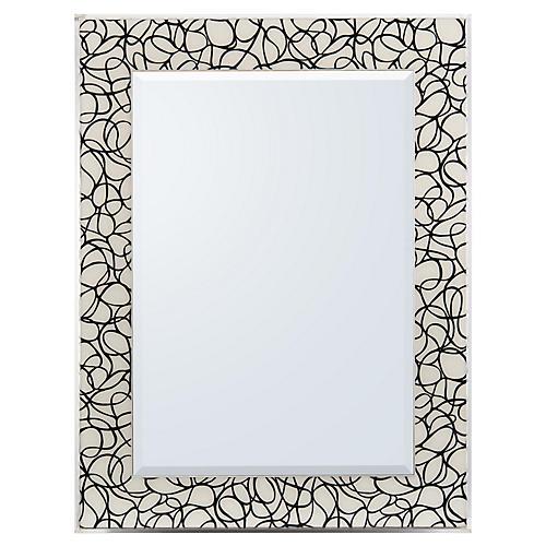 Ongoing I Floor Mirror, Black/White