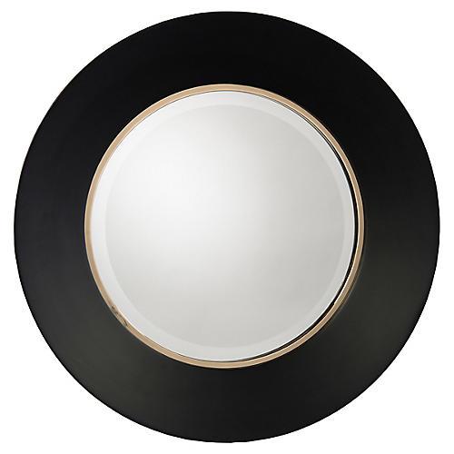Portal Wall Mirror, Noir/Gold