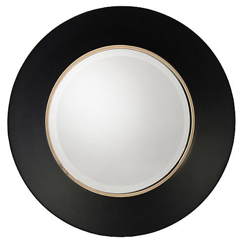 Portal Wall Mirror, Noir/Gold