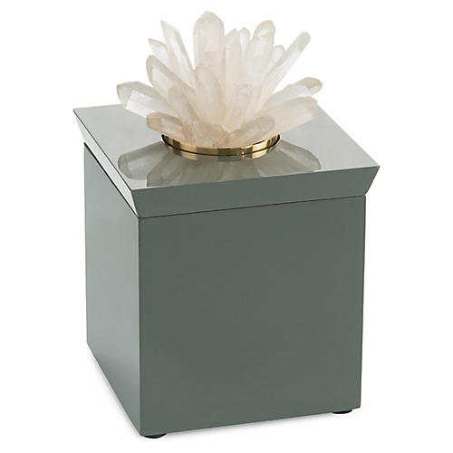 "9"" Quartz Box, Gray"
