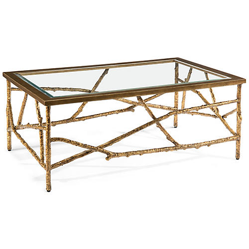 Branches Coffee Table, Old Gold