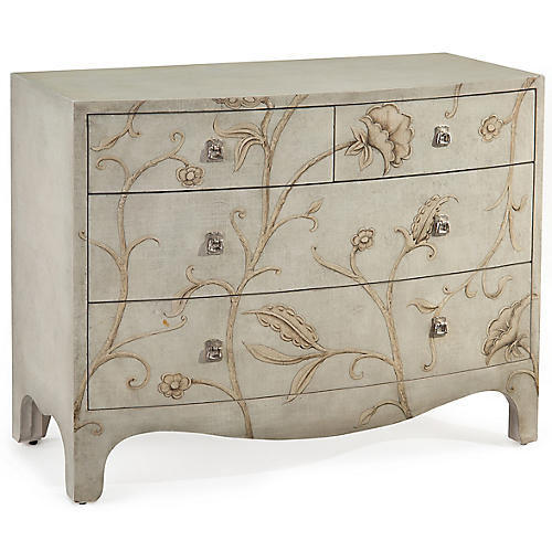 Morano 4-Drawer Dresser, Gray/Multi