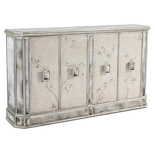 Pendula 4 Door Sideboard Gray Multi