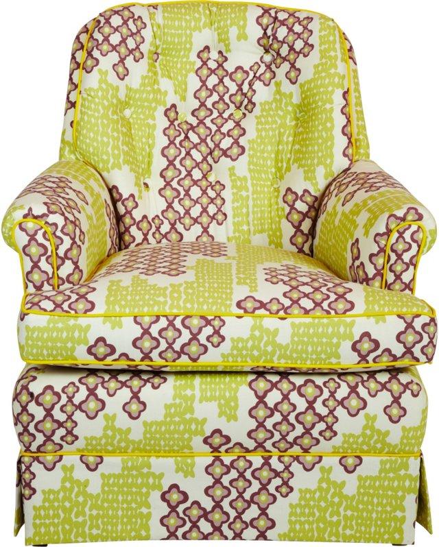 Purple & Green Armchair