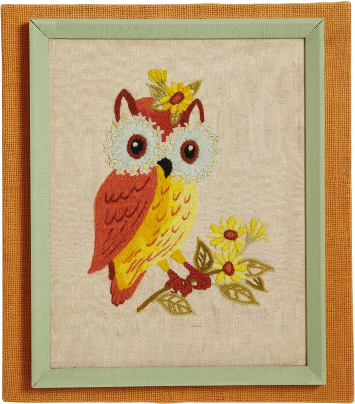 Who's-Who Embroidered Owl