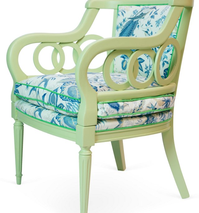 Painted Green Armchair
