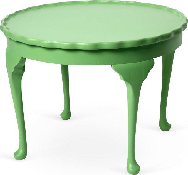 Green Piecrust Side Table