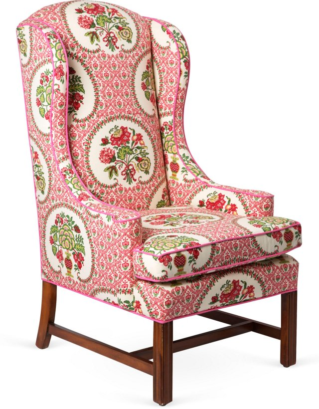 Indian-Style Wingback Chair