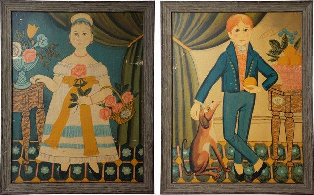 Americana-Style Portraits, Set of 2