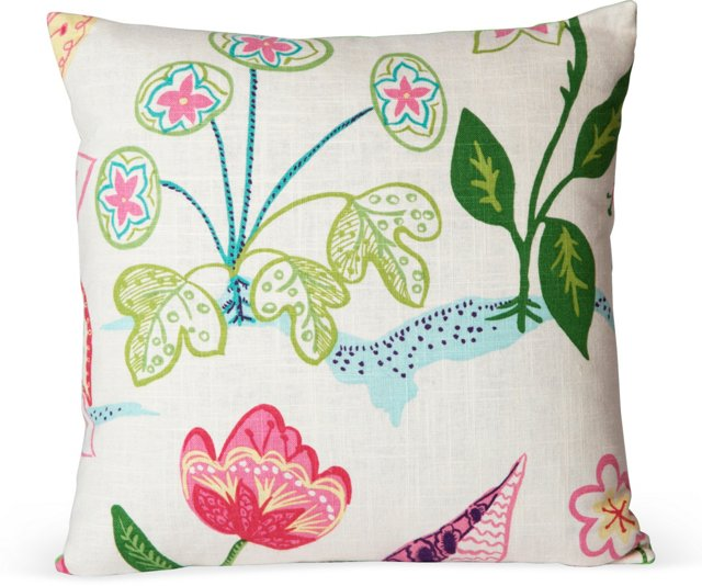 Frisky Floral Pillow I