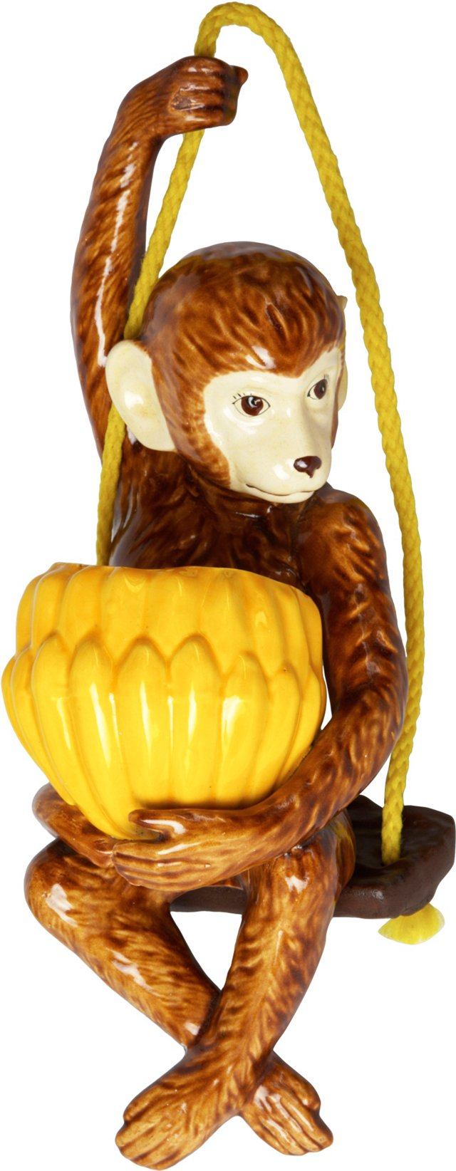 Monkey on Swing Hanging Planter