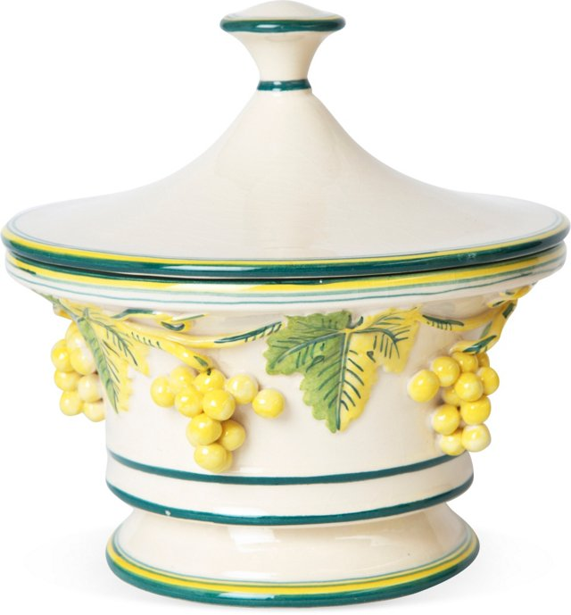 Lidded Italian Ceramic Dish