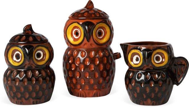 Owl Kitchen Set, 3 Pcs.
