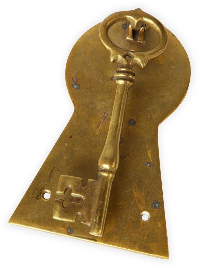 Brass Key Doorknocker
