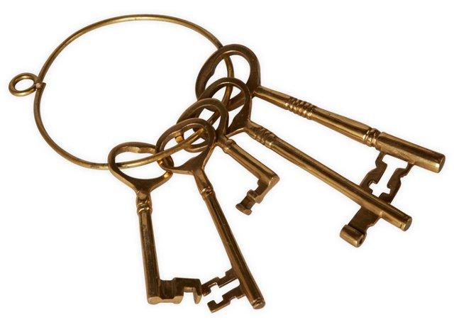 Brass Keys on Brass Ring