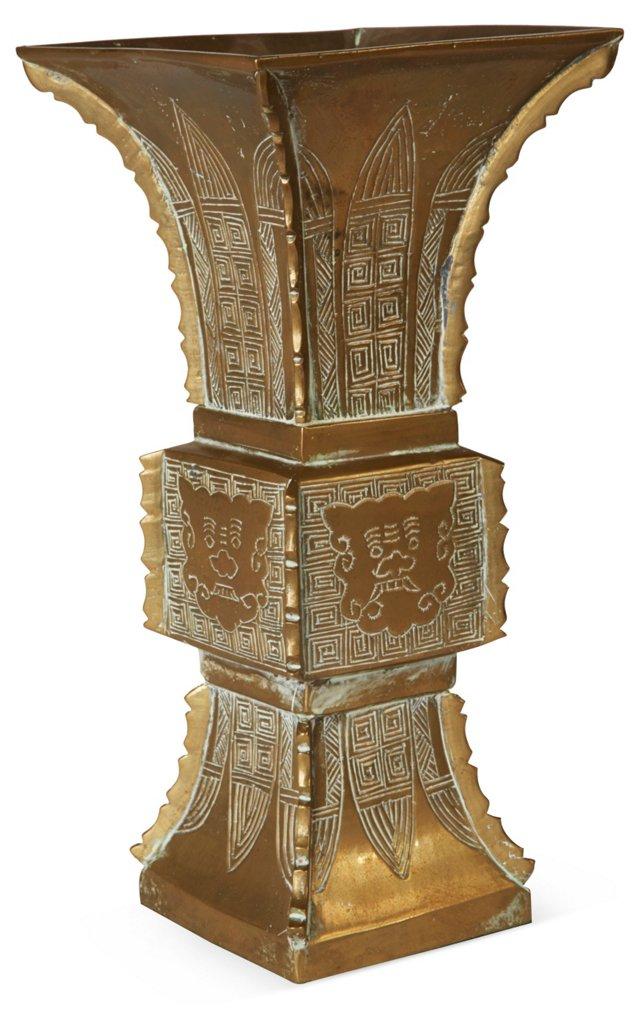 Ethnic Brass Vase