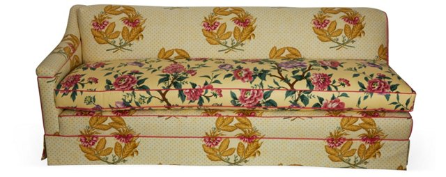 Yellow Floral Chaise