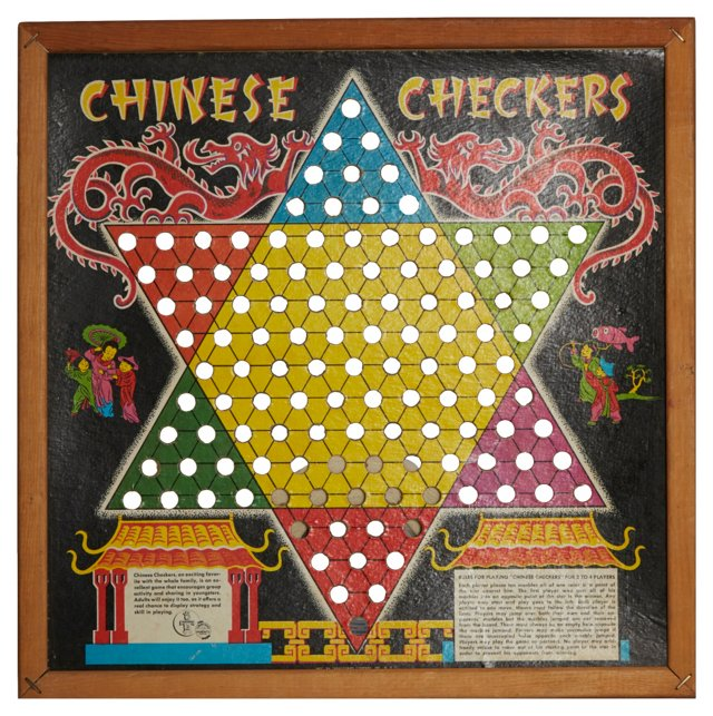 Framed Chinese Checkers Board